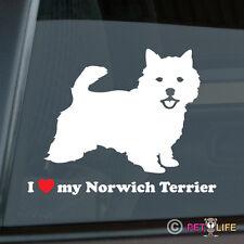 I Love My Norwich Terrier Sticker Die Cut Vinyl