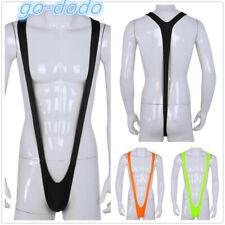 Mens Suspender Sling G-string Mankini Thongs Underwear Beach Swimwear Bodysuit