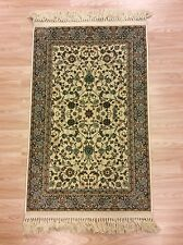 CREAM TEAL Silk like Oriental Traditional Persian Des. Small Rug 70x110cm 50%OFF