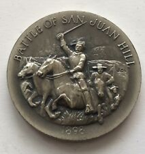 Longines Symphonette Battle of San Juan Hill 1898 Sterling Silver Coin