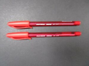 BRAND NEW PAPERMATE BALLPOINT RED PENS x2 (1 Buy Per Person)