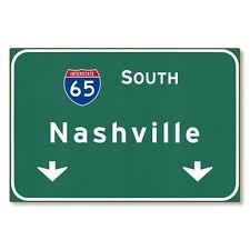 I-65 Interstate Nashville Tennessee tn Metal Sign Art STEEL not tin 36x24