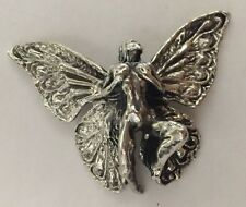 FAIRY CHARM HALLOWEEN PROP METAL SILVER PLATED ANTIQUED
