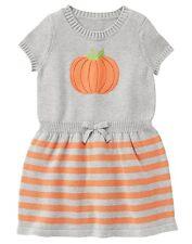 Gymboree Pumpkin Halloween Sweater Dress Girls Size:8 RRP:$39.95