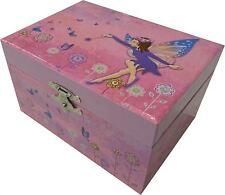 Mele & Co Sheba Joyero Musical Hadas Mariposas Rosa flores de color púrpura