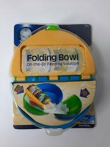 Gerber Folding Bowl On The Go Feeding Solution Mealtime Container Unisex Babies