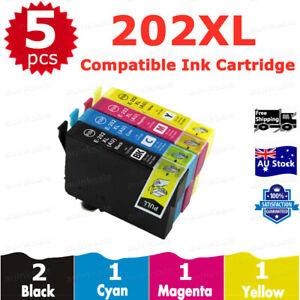 5x Ink Cartridge Compatible 202 XL 202XL For Epson WF2860 WF-2860 XP5100 XP-5100
