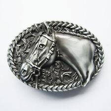 New Vintage Horse Head Western Oval belt buckle Gürtelschnalle also Stock in US