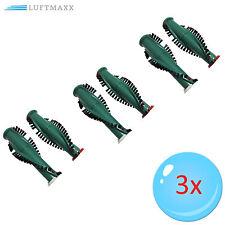 3 x Bürsten Walzen geeignet für VORWERK Kobold , Elektrobürste EB 350 351 351F