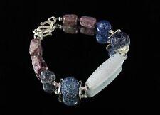 Natürliche Armbänder im Armreif-Stil aus Sterlingsilber mit echten Edelsteinen