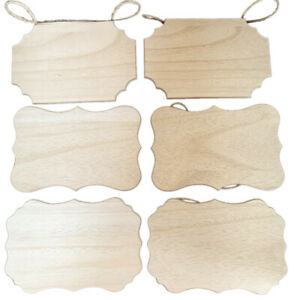 Unfinished Wooden Plaques Blank Signs Slices Hanging DIY Message Board Painting