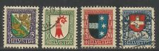 Switzerland 1926 Pro Juventute--Attractive Heraldry Topical (B37-40) fine used