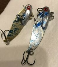 Vibrating Blade Bait Combo Pack 1/2 Oz  Brass/blue, Silver/blue