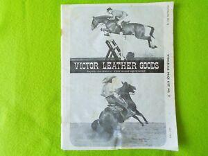 VICTOR Vintage 1972 CATALOG~SADDLES~STERLING SILVER TRIM~BRIDLE~BREAST COLLAR~NR