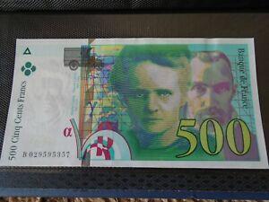 BILLET 500 FRANCS PIERRE ET MARIE CURIE B 029595357 1994 - neuf