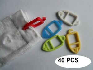 40Pcs Sock Clips Colorful Organizers Sorters Holder Clamp Laundry Accessories