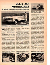 1964 SUPERCHARGED MERCURY CYCLONE 427 / JACK CHRISMAN ~ ORIGINAL ARTICLE / AD