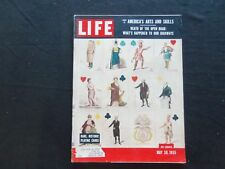 1955 MAY 30 LIFE MAGAZINE - RARE PLAYING CARDS - L 957
