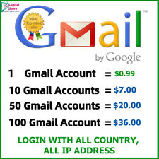 Fresh Gmail Account ✔high quality ✔️work with all IP ✔️Guarantee ✔️Fast Delivery