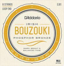 EJ81 D'Addario Irish Bouzouki Strings 8 String Phosphor Bronze