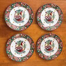 Mary Engelbreit Magic of Christmas 4 Dinner Plates Minty Never Used