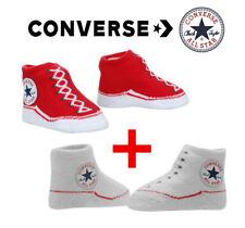 Converse All Star Baby Socken Schuhe Chucks Rot Weiß Socken 0-6 Monate Baby