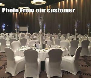 100pcs  White  Chair Cover Spandex Lycra Folding Banquet Wedding Party Decoratio