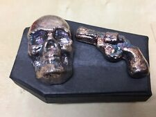 *VERY RARE DEAD & DANGEROUS SET* 5oz Skull & 45g Colt Yeagers Poured .999 Silver