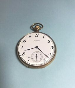 Vintage 1913 E. Howard Watch Co. Pocket Watch *RUNS GREAT!* 17j Gold Filled Case