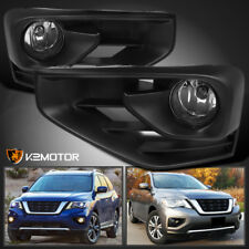 For 2017-2018 Nissan Pathfinder Clear Driving Bumper Fog Lights+Bulbs+Switch