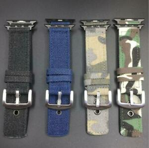 For Apple Watch Series 7654321 Camo Denim Sports Band Strap Military 38mm-44mm