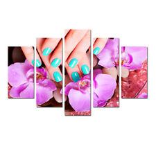 Beautiful Nails Poster Canvas Print Wall Art Painting Nails Salon Decor 5 Pieces