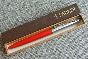 Vintage Parker Pen First Year Jotter Red USA  #212