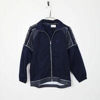 Vintage 90s ASICS Tape Logo Tracksuit Top Jacket Blue | Medium M