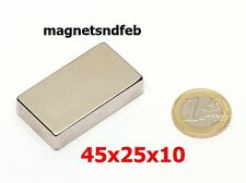 Blockmagnet Neodym-Magnete 45x25x10 Quader