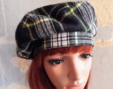 Beret Vintage OXFORD pour femme Made In France Tissu écossais style anglais