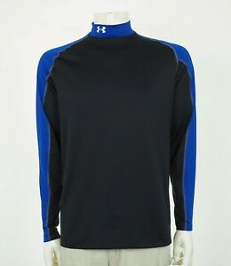 Under Armour ColdGear Fitted Black Training Mock Shirt Mens Large