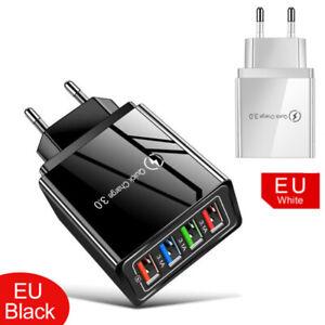 3.1A QC3.0 Ladegerät Stecker 5V 16W 4 USB Port Netzteil Adapter Samsung Huawei