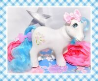 ❤️My Little Pony MLP G1 Vtg 1984 European UK Exclusive White Tootsie Blue Mane❤️