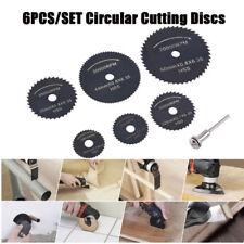 6Pcs HSS Saw Blades for Dremel Rotary Tool Cutting Discs Circular 22-50mm Metal