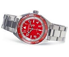 Vostok Komandirskie Automatic Russian wrist watch 650840 /2415.01 Red New 2018