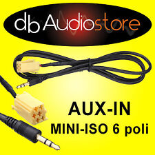 Cavo Interfaccia AUX In Out adapter Smart Fortwo x lettore mp3 ipod CD Car