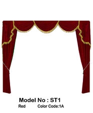 Saaria ST-1 Home Theater Velvet Screen Curtains Event Stage Drapes 10'W X 8'H