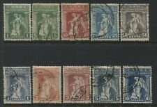 Greece 1917 Provisional Government issue to 10 drachmas used