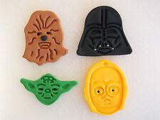 12 x Star Wars Edible Cupcake Toppers DARTH VADER Yoda C3PO Chewbacca CAKE DECOR