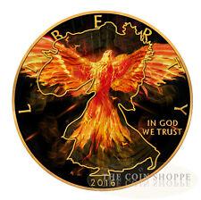 BURNING LIBERTY EAGLE - 2016 1 oz American Silver Eagle Coin  Ruthenium 24K Gold