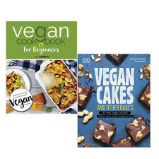 Vegan Cookbook and Vegan Cakes and Other Bakes Collection 2 Books Set Delicious
