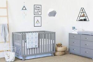 Petunia Pickle Bottom Southwest Skies 3-Pc Crib Bedding Set Blue/Gray/White New
