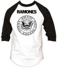 Ramones-Seal Logo-Medium Raglan Baseball Jersey T-shirt