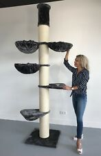 Kratzbaum für große Katzen XXL Maine Coon Tower Plus Anthrazit. Sisalstämme 20cm